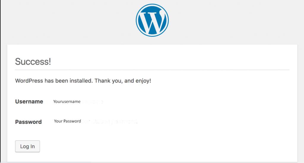 WordPress run script